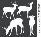 vector set of dappled deer... | Shutterstock .eps vector #529599181
