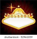 vegas banner sign | Shutterstock .eps vector #52961059
