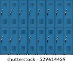 blue metal cabinets school or... | Shutterstock . vector #529614439