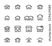house line icon | Shutterstock .eps vector #529619089