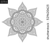 flower mandala. vintage... | Shutterstock .eps vector #529620625