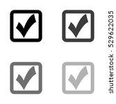checklist    black vector icon   Shutterstock .eps vector #529622035