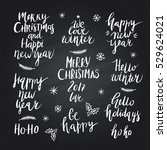 wonderful handwritten christmas ... | Shutterstock .eps vector #529624021