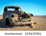 Abandoned Car In The Namibian...