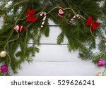 tree branch on a wooden... | Shutterstock . vector #529626241
