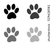paw    black vector icon | Shutterstock .eps vector #529628581