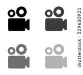 video camera    black vector... | Shutterstock .eps vector #529630921