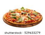 delicious pizza served on... | Shutterstock . vector #529633279
