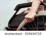 elderly woman using wheelchair. | Shutterstock . vector #529634725