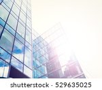 glossy facade of an office... | Shutterstock . vector #529635025