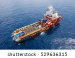 crew boat and supply vessel at... | Shutterstock . vector #529636315