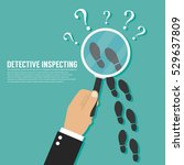 detective inspecting | Shutterstock .eps vector #529637809
