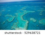 great barrier reef from above ... | Shutterstock . vector #529638721