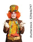 Stock photo a positive and joyful hatter isolated on white background 529646797