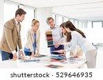 team of design professionals... | Shutterstock . vector #529646935