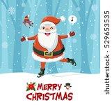 vintage christmas poster design ... | Shutterstock .eps vector #529653535