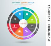 circle infographic elements...
