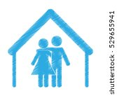 couple man and woman icon image ... | Shutterstock .eps vector #529655941