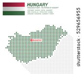 dot style of hungary map and...   Shutterstock .eps vector #529656955