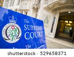 Small photo of LONDON - DECEMBER 5, 2016: Entrance to the Supreme Court of the United Kingdom, which focuses on cases that are of importance to the general public, like the Brexit ruling, in Parliament Square.