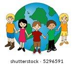 children around the globe  ... | Shutterstock .eps vector #5296591