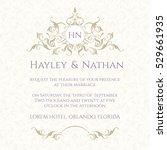 graphic design page. wedding... | Shutterstock .eps vector #529661935
