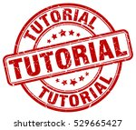 tutorial. stamp. red round... | Shutterstock .eps vector #529665427