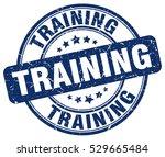 training. stamp. blue round... | Shutterstock .eps vector #529665484