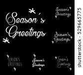 season's greetings typography... | Shutterstock .eps vector #529665775
