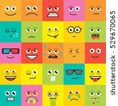 set of emoticons  colorful... | Shutterstock .eps vector #529670065