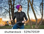 young stylish girl posing in... | Shutterstock . vector #529670539