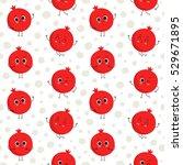 pomegranate  vector seamless... | Shutterstock .eps vector #529671895
