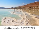 path of the evaporated salt.... | Shutterstock . vector #529675729