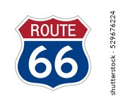 route 66 sign . | Shutterstock .eps vector #529676224