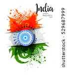 indian republic day concept...   Shutterstock .eps vector #529687999