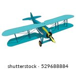 biplane from world war with... | Shutterstock .eps vector #529688884