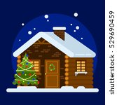 house of santa claus. in the... | Shutterstock .eps vector #529690459