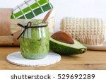 Homemade Avocado Mask In A...
