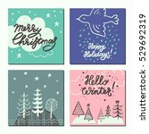 christmas and new year design... | Shutterstock .eps vector #529692319