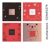 christmas and new year design... | Shutterstock .eps vector #529692379
