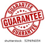 guarantee. stamp. red round... | Shutterstock .eps vector #529696054