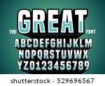 vector of big retro 3d alphabet   Shutterstock .eps vector #529696567