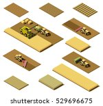 vector isometric low poly... | Shutterstock .eps vector #529696675