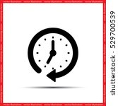 clock vector illustration eps10. | Shutterstock .eps vector #529700539