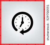 clock vector illustration eps10. | Shutterstock .eps vector #529700551
