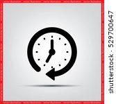 clock vector illustration eps10. | Shutterstock .eps vector #529700647
