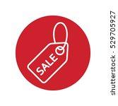 price tag sale label line white ...   Shutterstock .eps vector #529705927