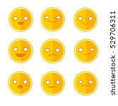 funny  smile set vector | Shutterstock .eps vector #529706311