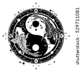 yin and yang tattoo art vector  ... | Shutterstock .eps vector #529711081