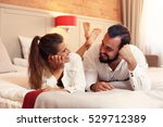 picture showing happy couple... | Shutterstock . vector #529712389